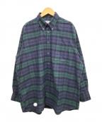 INDIVIDUALIZED SHIRTS(インディビジュアライズドシャツ)の古着「チェックシャツ」|ブラック×グリーン
