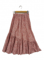 DOUBLE STANDARD(ダブルスタンダード)の古着「プリントボリュームスカート」 レッド×ホワイト