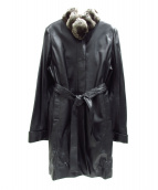 Mila Schon(ミラショーン)の古着「ラムレザーコート」|ブラック