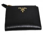 PRADA(プラダ)の古着「2つ折り財布」|ブラック