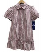 BURBERRY BLUE LABEL(バーバリーブルーレーベル)の古着「ストライプブラウス」|ピンク