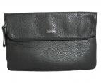 Calvin Klein PLATINUM(カルバン・クライン プラティナム)の古着「レザークラッチバッグ」|ブラック