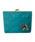 ANNA SUI(アナスイ)の古着「がま口財布」 ブルー×パープル