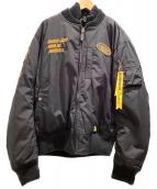 VANSON(バンソン)の古着「MA-1タイプフライトジャケット」|ブラック