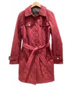 COACH(コーチ)の古着「キルティングコート」|レッド