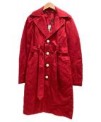 DIESEL(ディーゼル)の古着「トレンチコート」|レッド
