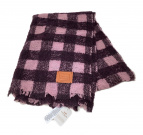 ()の古着「ウールアルパカ混ストール」|ブラウン×ピンク