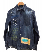 ONEMADE(ワンメイド)の古着「ウエスタンデニムシャツ」|インディゴ