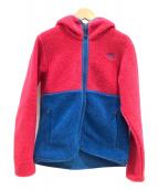 ()の古着「フリースジャケット」|レッド×ブルー