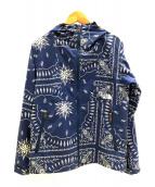()の古着「ノベルティコンパクトジャケット」|ブルー×ホワイト