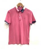 BLACK LABEL CRESTBRIDGE(ブラックレーベルクレストブリッジ)の古着「ポロシャツ」|ピンク