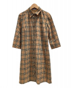 BURBERRY BLUE LABEL(バーバリーブルーレーベル)の古着「ロングシャツ」|ベージュ