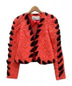 ()の古着「ジャケット」|ピンク×ブラック