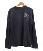 BURBERRY BLACK LABEL(バーバリーブラックレーベル)の古着「長袖カットソー」 ブラック