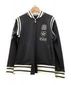 ()の古着「リブ切替ジップジャージ」|ブラック