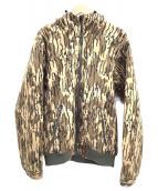 ()の古着「フーデッドジャケット」|ベージュ×ブラウン