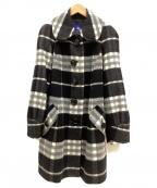 BURBERRY BLUE LABEL(バーバリーブルーレーベル)の古着「ウールコート」|ブラック