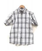 ()の古着「半袖シャツ」|ホワイト×ブラック