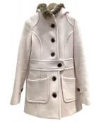()の古着「ファー付コート」|ピンク