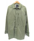 Denham(デンハム)の古着「ステンカラーコート」 カーキ