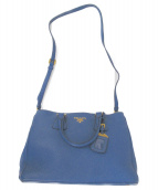 PRADA(プラダ)の古着「レザー2WAYバッグ」 ブルー
