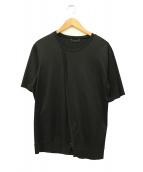 ato(アトウ)の古着「クルーネックリブTシャツ」|ブラック
