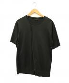 ato(アトウ)の古着「クルーネックリブTシャツ」 ブラック