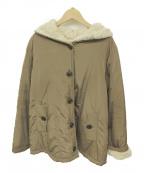 Samansa Mos2(サマンサモスモス)の古着「フーデッドコート」|ベージュ