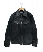 RUDE GALLERY(ルードギャラリ)の古着「ホースレザー切替デニムジャケット」|ブラック