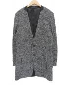 ato(アトウ)の古着「ループツイードコート」|ブラック×グレー