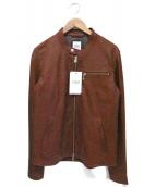 TAKEO KIKUCHI(タケオキクチ)の古着「シングルライダースジャケット」|ボルドー