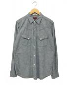 BRU NA BOINNE(ブルーナボイン)の古着「シャンブレーシャツ」|ブルー