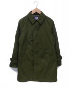 THE NORTH FACE PURPLE LABEL(ザノースフェイス パープルレーベル)の古着「ステンカラーコート」|グリーン