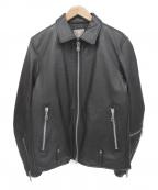 nano&co(ナノアンドコー)の古着「シングルライダースジャケット」 ブラック