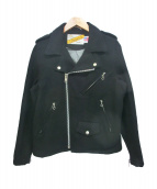 Schott(ショット)の古着「ウールライダースジャケット」 ブラック