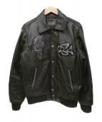 AVIREX(アビレックス)の古着「レザージャケット」 ブラック