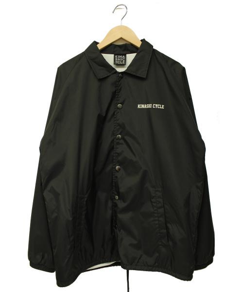KINASHI CYCLE(キナシサイクル)KINASHI CYCLE (キナシサイクル) コーチジャケット ブラック サイズ:L 春秋物の古着・服飾アイテム