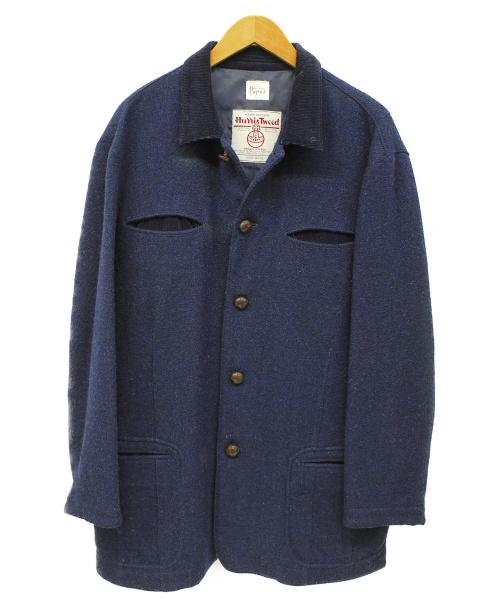 PAPAS(パパス)PAPAS (パパス) ツイードジャケット ネイビー サイズ:Mの古着・服飾アイテム