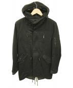 LOUNGE LIZARD(ラウンジリザード)の古着「モッズコート」 ブラック