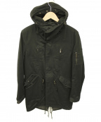 LOUNGE LIZARD(ラウンジリザード)の古着「モッズコート」|ブラック
