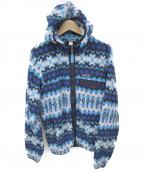 Patagonia()の古着「フリースジャケット」 ブルーホワイト