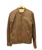 ISAMU KATAYAMA BACKLASH(イサムカタヤマバックラッシュ)の古着「レザージャケット」|ブラウン