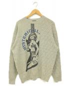 Hysteric Glamour(ヒステリックグラマー)の古着「フランダースリネン混ニット」|グレー