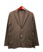LARDINI(ラルディーニ)の古着「ニットジャケット」|ブラウン