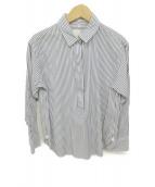 23区(ニジュウサンク)の古着「ストライプチュニックシャツ」|ブルー