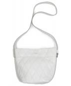 GIVENCHY(ジバンシィ)の古着「キルトレザーショルダーバッグ」|ホワイト
