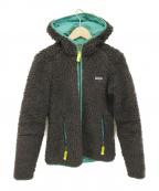 Patagonia()の古着「ボアフリースパーカー」|ブラック×グリーン