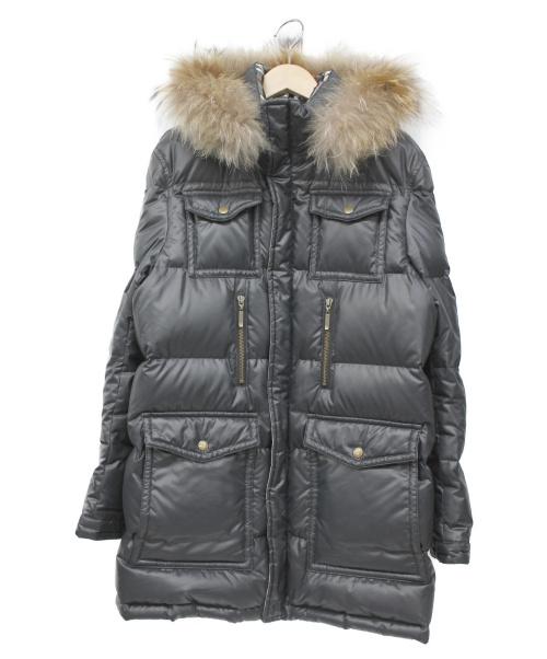 BURBERRY BLACK LABEL(バーバリーブラックレーベル)BURBERRY BLACK LABEL (バーバリーブラックレーベル) ダウンコート ブラック サイズ:M 冬物の古着・服飾アイテム