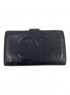 CHANEL()の古着「2つ折り財布」|ブラック