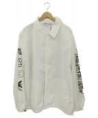 LEGENDA(レジェンダ)の古着「GLITCH ARTコーチジャケット」|ホワイト